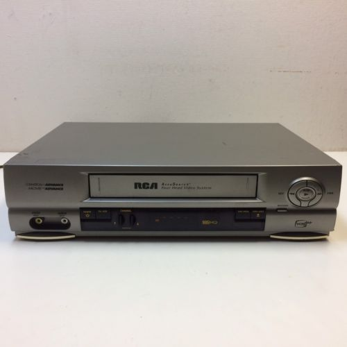 RCA VR552 VCR VHS Plus 4 Head Hi-Fi Video Tape Player Recorder No Remote ~ GUC?