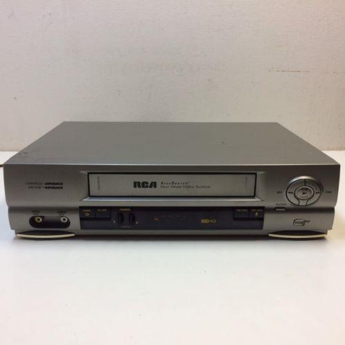 RCA VR552 VCR VHS Plus 4 Head Hi-Fi Video Tape Player Recorder No Remote ~ GUC?