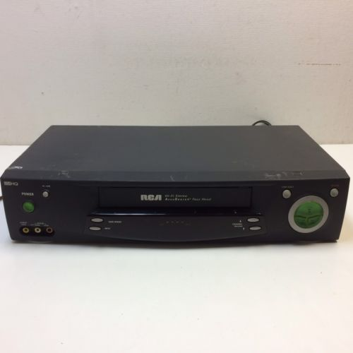 RCA Hi-Fi Stereo AccuSearch 4-Head VHS HQ VCR Video Player Recorder VR705HF GUC?
