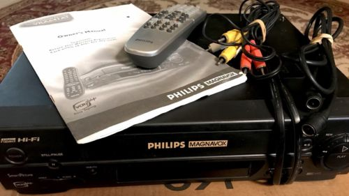 Philips Magnavox VCR Plus VRA641AT VHS Player Recorder And Accessories
