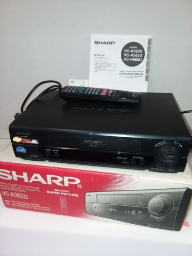 SHARP VC-A382 4 HEAD HIFI VCR VHS SHARP VIDEO  SHIPS IN 1 DAY