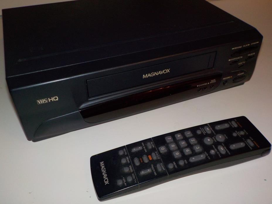 Magnavox VR9320AT22 VCR with Remote Video Cassette Recorder VHS HQ TESTED works