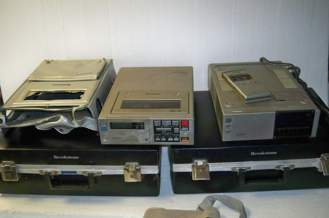 Sony SL-2000 Betamax Video Cassette Recorder & TT-2000 Tuner Timer untested