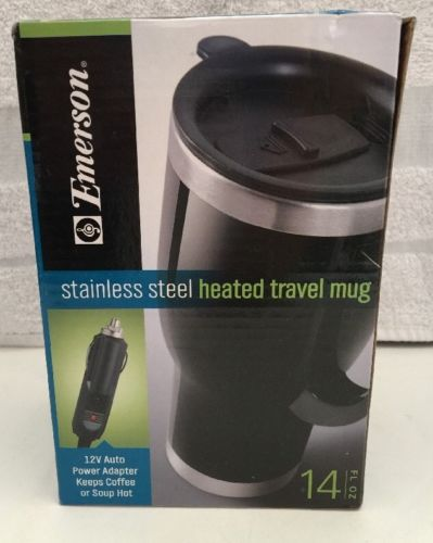 Emerson Stainless Steel Heated Travel Mug For Drinks or Soup 14 fl. oz.