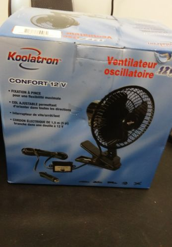 Koolatron  12V Comfort  Oscillating Fan  #40113