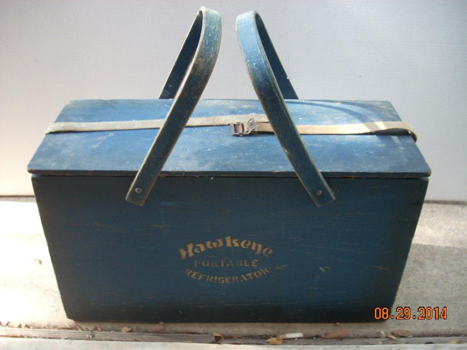 antique non-electric portable refridgerator 21