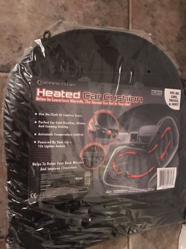 Hot Headz Geared Up Polar Ex Heated Car Cushion, Black, One Size