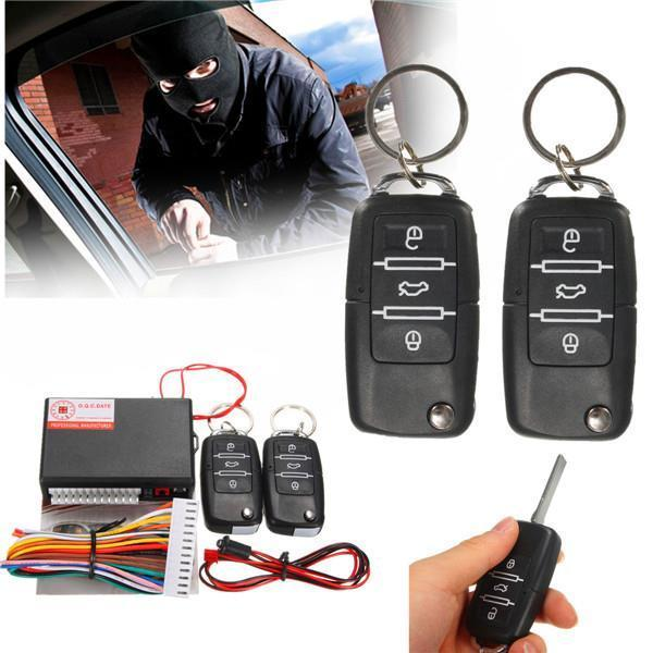 Universal Car Security System Hand Free Door Lock Central Remote Control Kit US