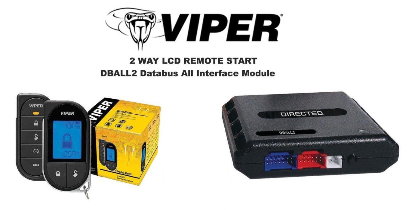 Viper 4706V 2 Way LCD Auto Remote Start System w/ Bypass Module DBALL2