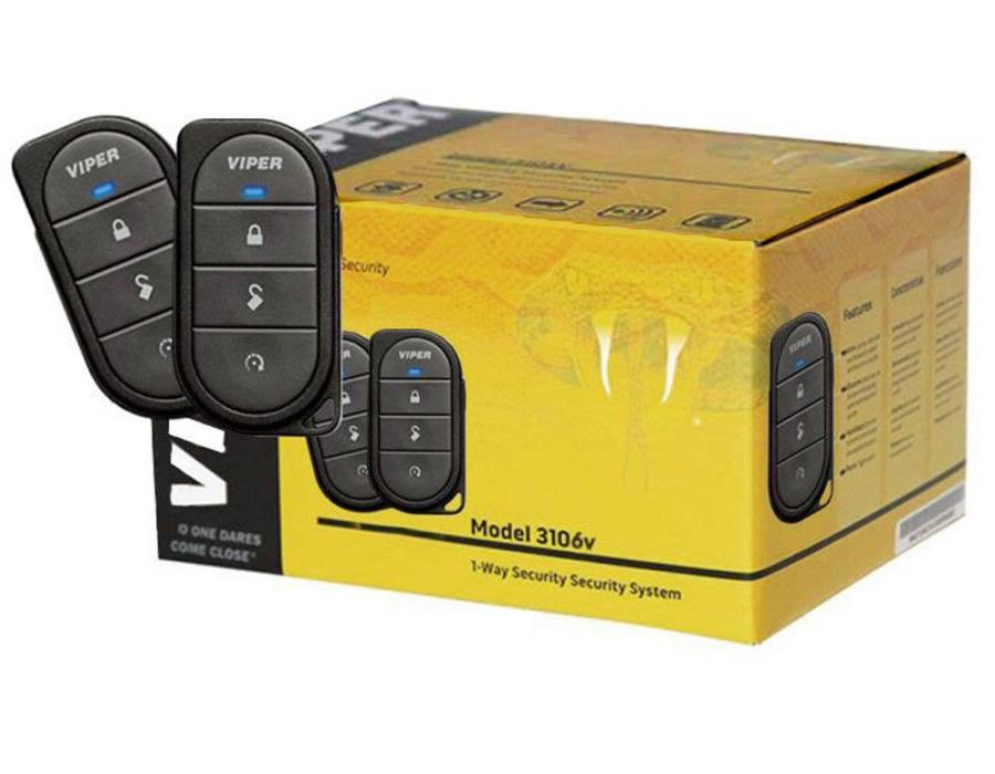 Viper 3106V  1 Way Security Key less Entry System 3 Channel Sec / 2 Remotes