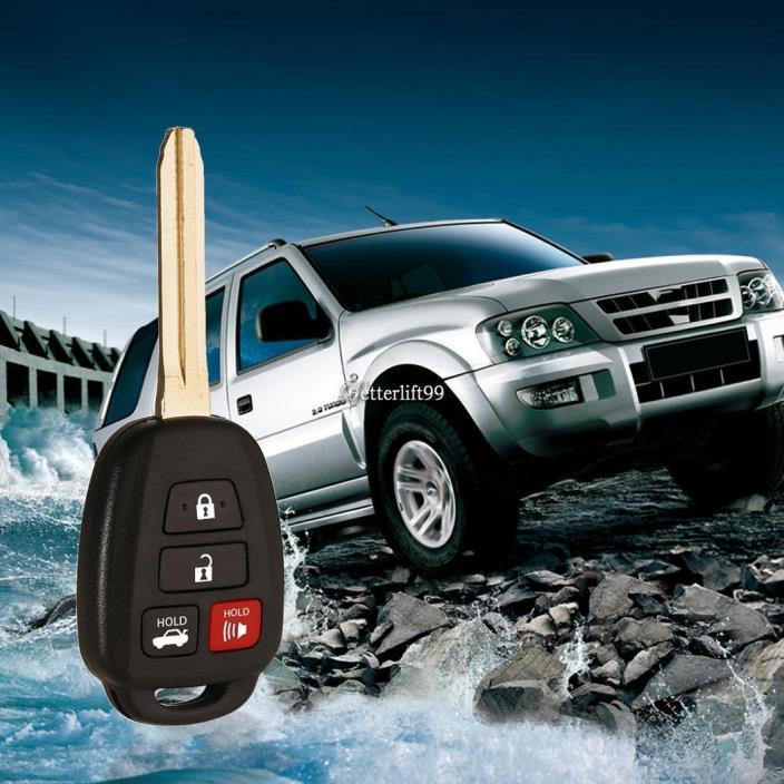 New Uncut Keyless Entry Remote Head Key Fob HYQ12BDM for Toyota Camry BF9 01