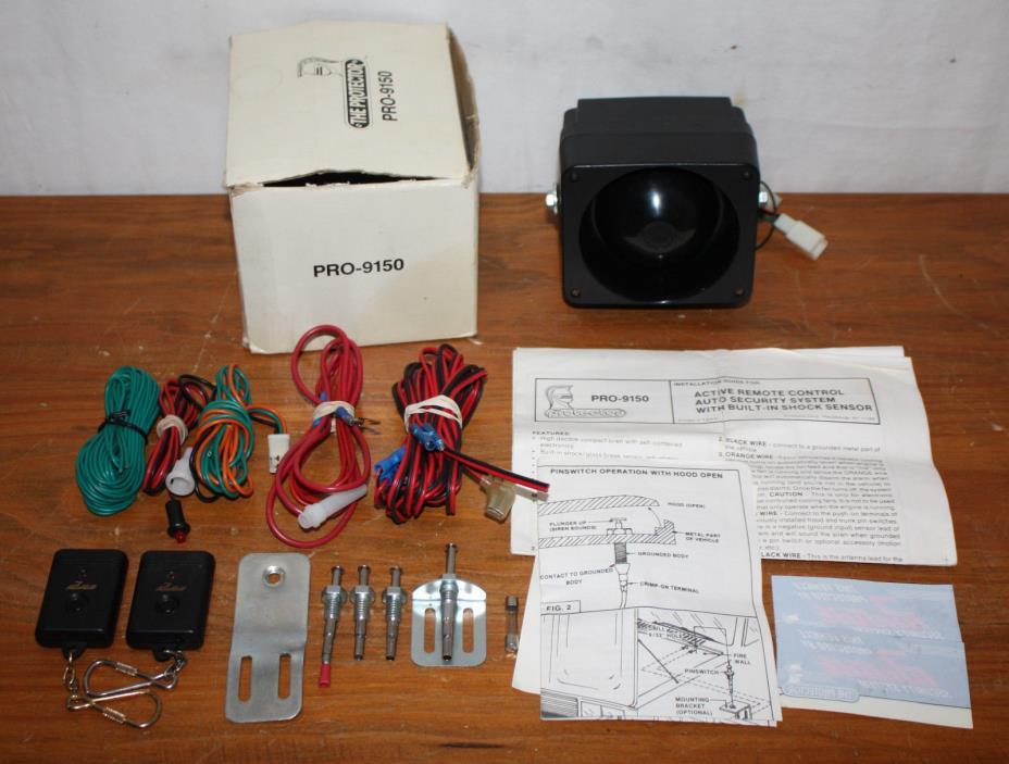 Audiovox Pursuit Car Alarm PRO9150, The Protector, Keyless System w/ 2 Remotes