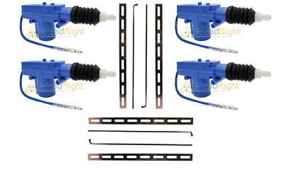 Universal 12 Volt Power Door Lock Actuator Motors Heavy Duty 2 Wire Pack Of Four