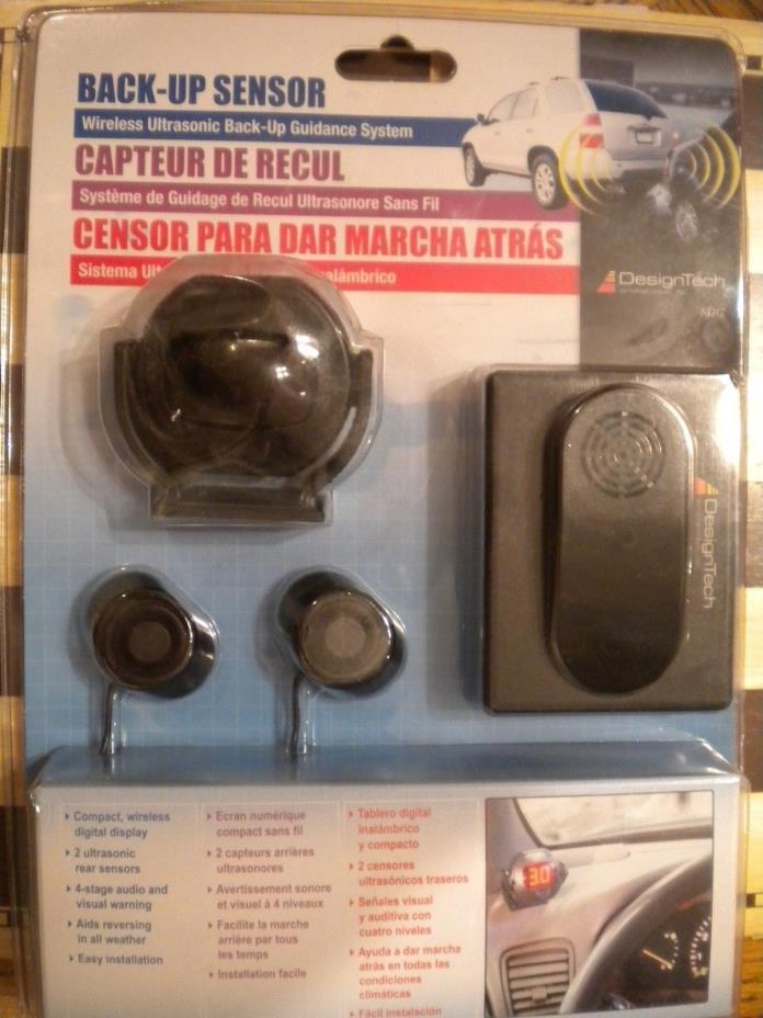 Car Auto Parking Backup Sensors, Display Reverse Sound Safety, Design Tech 2004