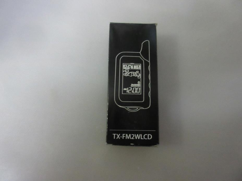 New FM 2-Way Remote Control with LCD Screen TXFM2WLCD