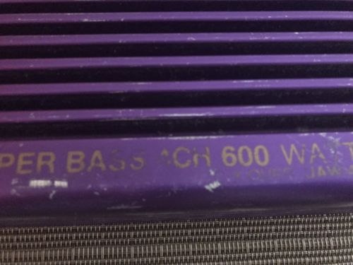 Rare Urban Audio 4 Channel Amplifier 600W Vintage Amp USA Purple