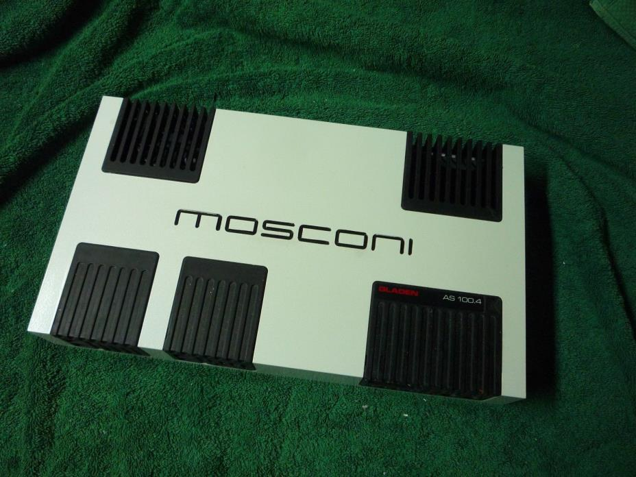 MOSCONI GLADEN AS100.4 480WRMS 4CH SQ AMP, VGC, ITALY!!!