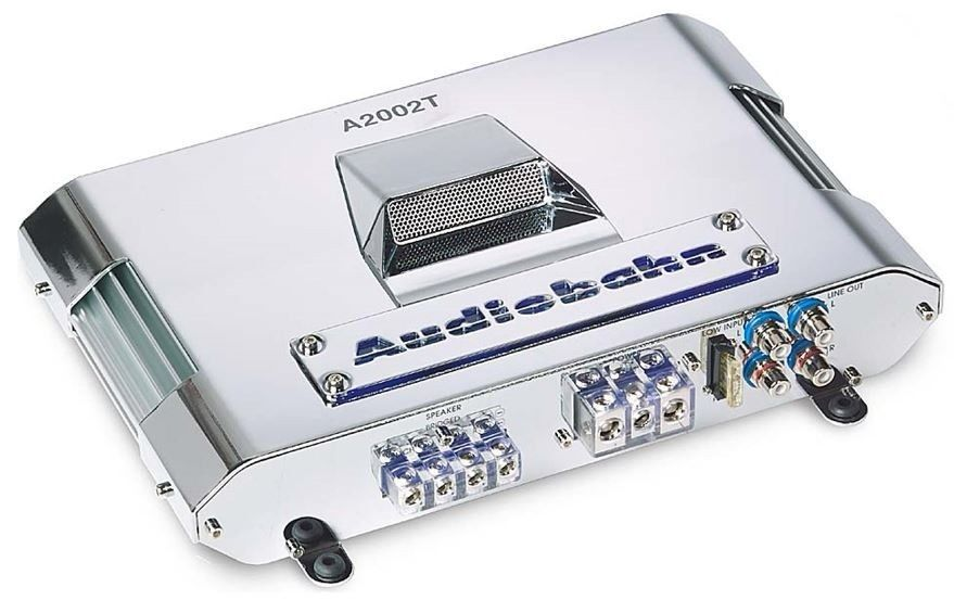 AUDIOBAHN A2002T 400 Watt Total 2 Channel CAR AUDIO AMP AMPLIFIER  Chrome Metal