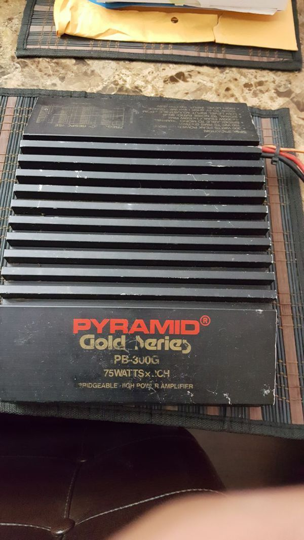 OLD SCHOOL Pyramid Gold Series Amp Amplifier car audio PB-300G AUTO AMP