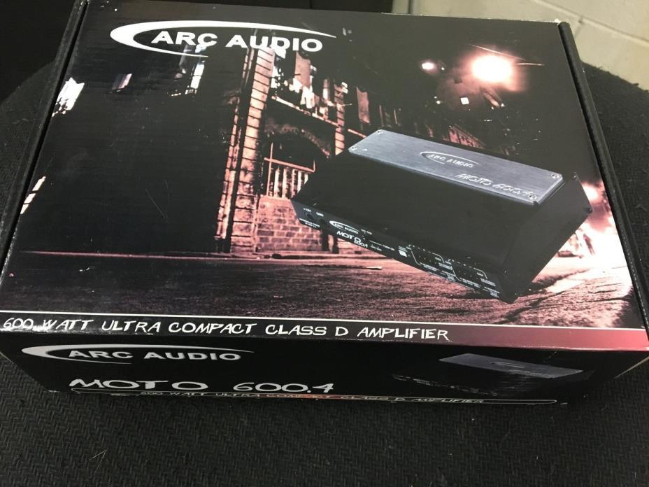 Arc Audio Moto 600.4 Amp for Harley, RZR, Maverick