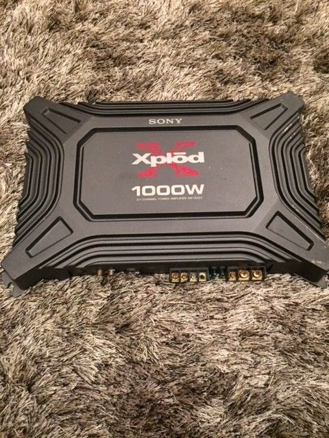 Sony Xplod XM-1652Z 1000W 2 or 1 -Channel Car Amp Pre-Owned