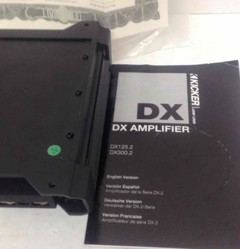 Kicker DX125.2 Amplifier Car Audio 2-Channel ClassD DX Series 129W Sub Black