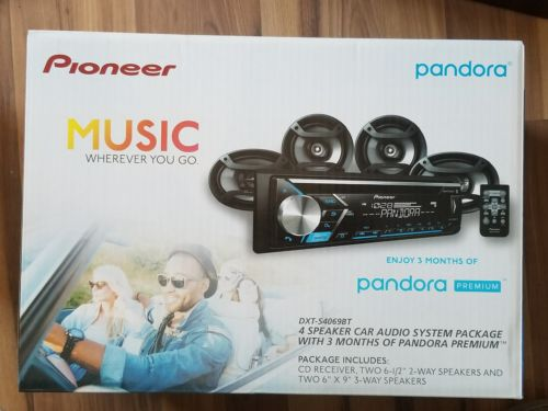 Pioneer Car Stereo Receiver With Built-In Bluetooth And 4 Speakers 6.5