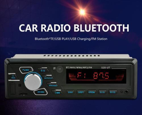 Car Player Head Unit Bluetooth MP3 FM 12V SD/USB/AUX Radio 1 Din Remote Stereo
