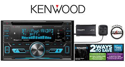 Kenwood DPX592BT CD Receiver w/ Bluetooth & SXV300v1 SiriusXM Satellite Radio