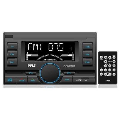 NEW Pyle Plrdd19ub Black Bluetooth Digital Receiver With Usb Sd