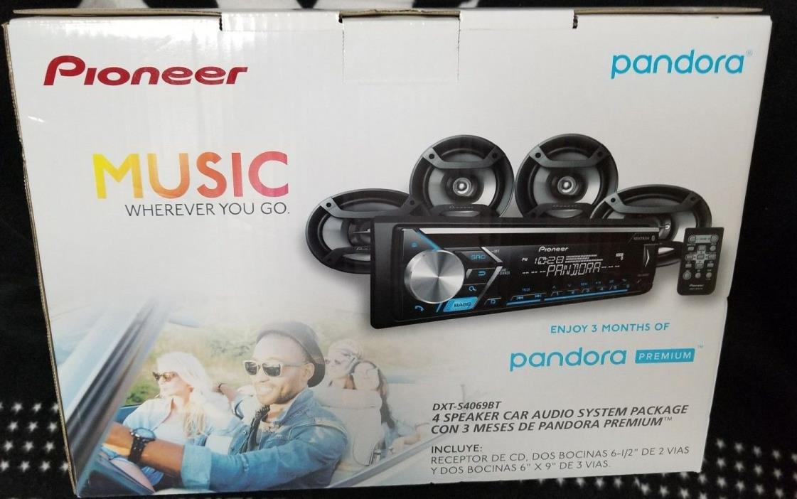 NEW Pioneer DXT-S4069BT Car Stereo CD Receiver w/ Bluetooth + 4 Speakers Bundle
