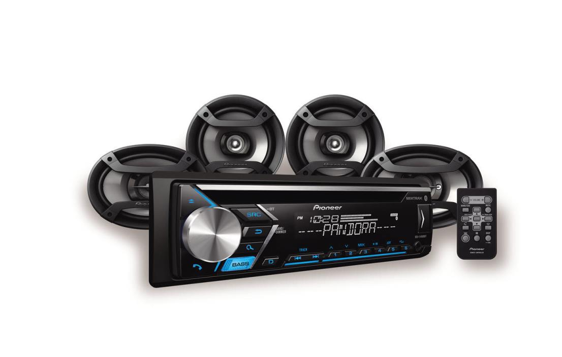 Pioneer Stereo with built-in Bluetooth, Two 6.5