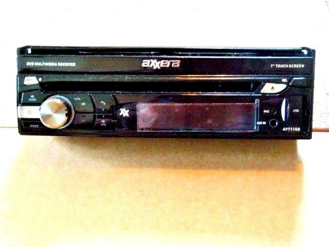 ACCERRA AV7115B DVD RECEIVER WITH BUILT IN BLUE TOOTH IN DASH WITH REMOTE