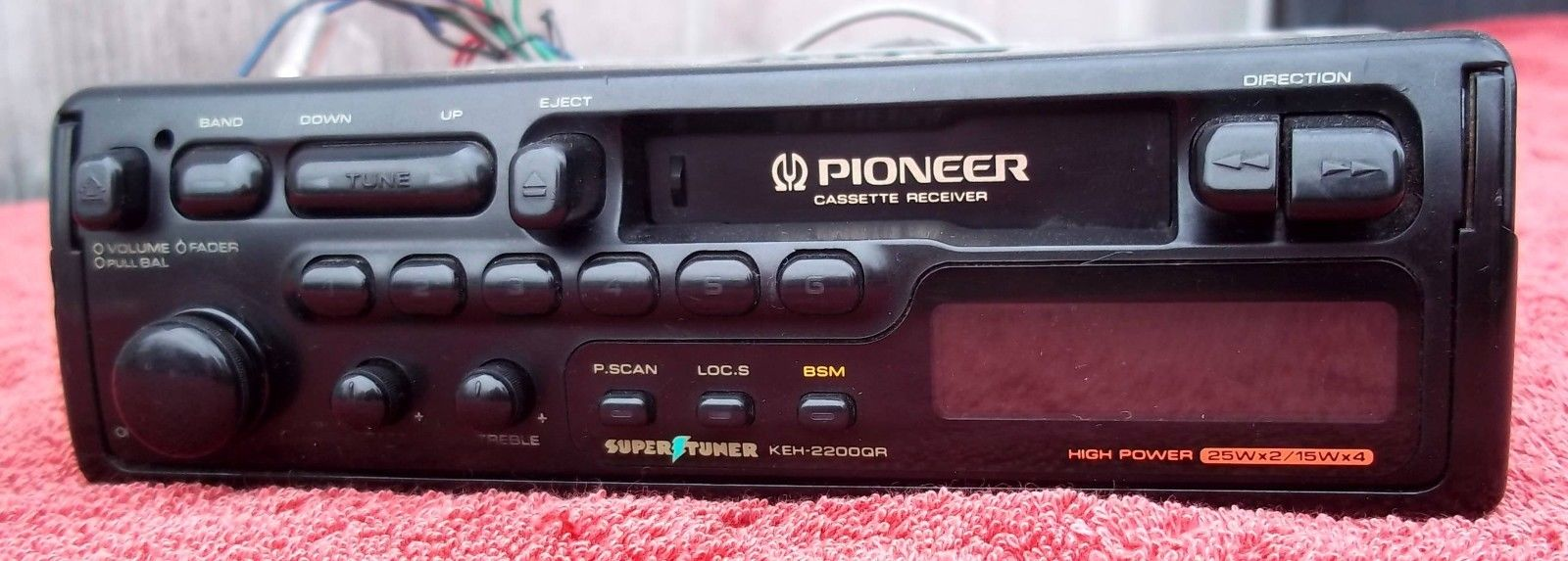 Pioneer Slide out AM/FM Stereo Cassette Receiver - KEH 2200QR - Tested
