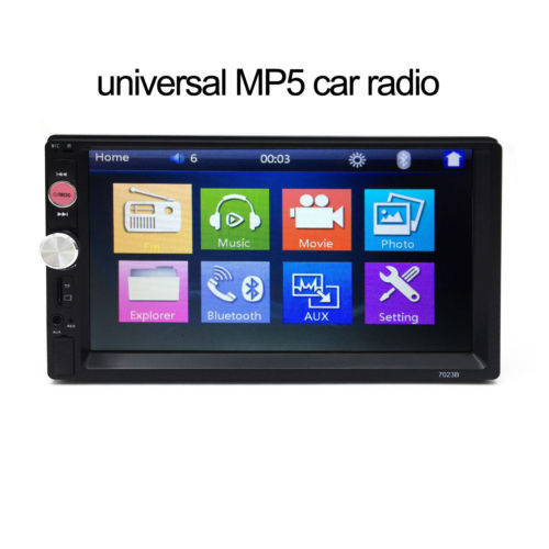 1x 7inch 2DIN Car MP5 Player Bluetooth Touch Screen Stereo Radio HD USB/AUX