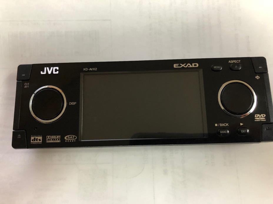 JVC KD-AVX2 FACEPLATE ONLY