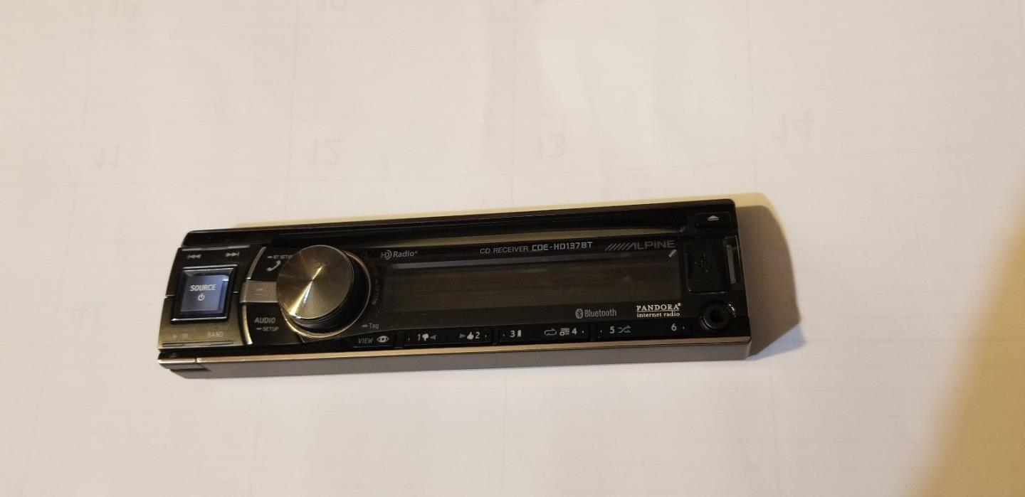 Alpine Cde 102 Faceplate For Sale Classifieds 9872 Wiring Harness Hd137bt Good Condition