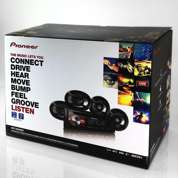 Pioneer DXT2969 Radio & 4 Speakers-USB & AUX Brand New