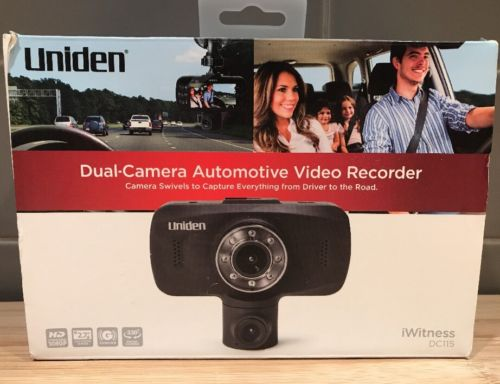 Uniden DC115 Dual-Camera Automotive Video Recorder Dashcam