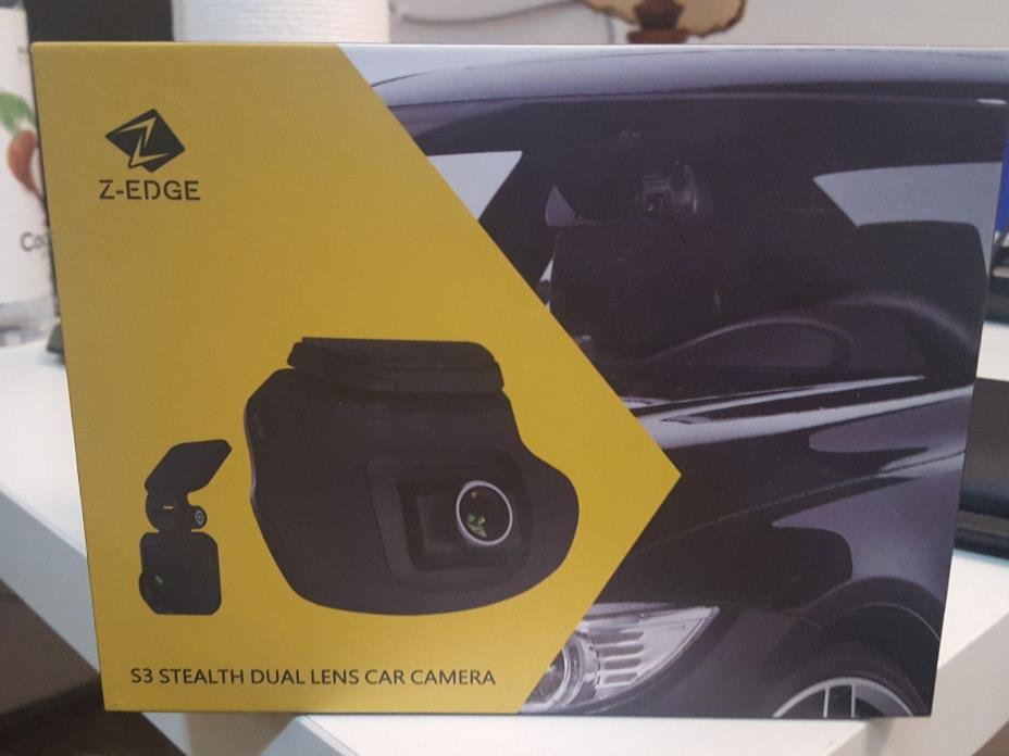 Z-EDGE S3 Dual Dash Cam - Ultra HD 1440P Front & 1080P Rear 150 Degree Wide Angl