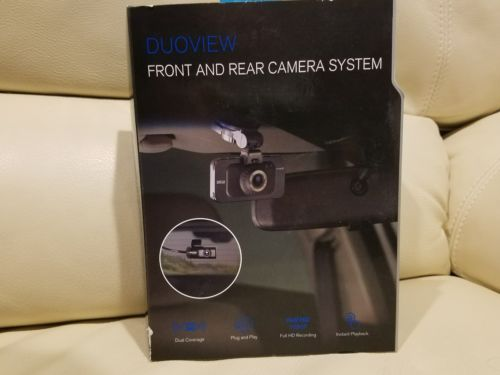 Duoview DashCam Front and Rear Camera System - New