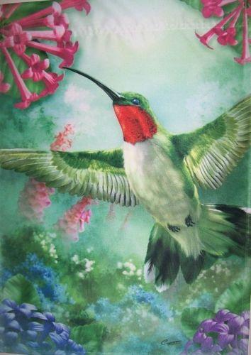 Hummingbird trumpet flower vine garden spring summer small  flag
