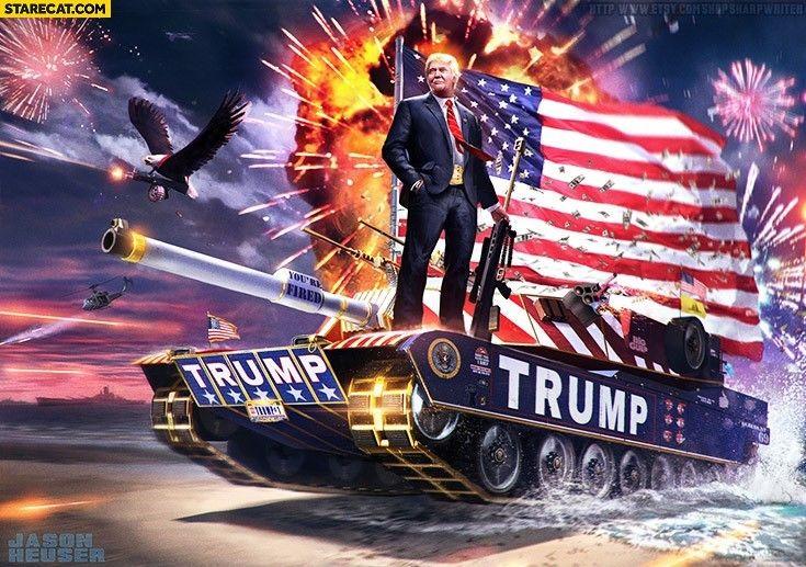 RARE Donald Trump Tank 2016 3x5 Foot Digital Print Banner FREE SHIPPING