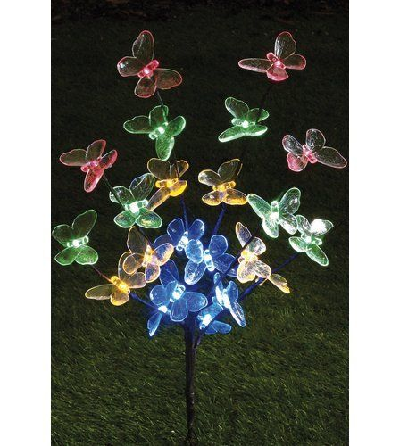 Solar Butterfly Tree ~ Butterfly Lawn Stake ~ Garden Decor ~ Fast Free Shipping