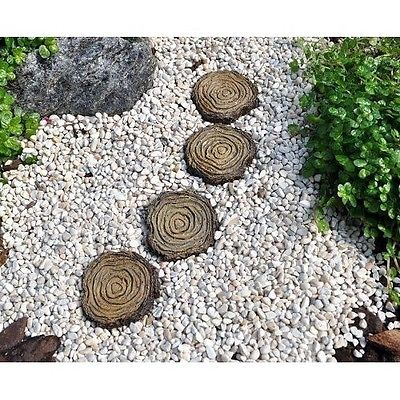 * Tree Stump Stepping Stones *  Set of 4 1