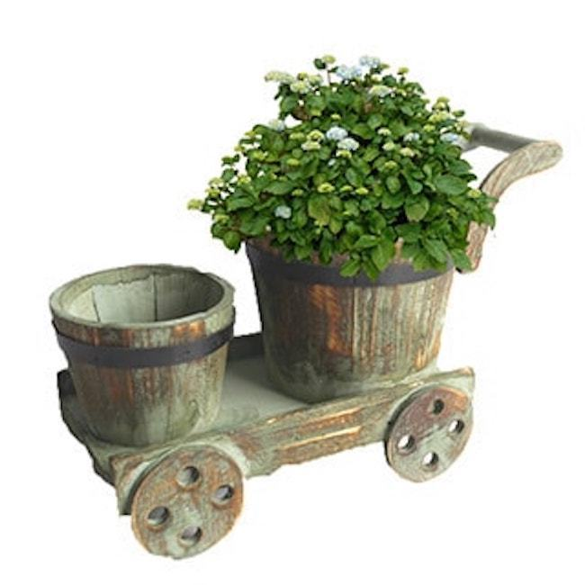 Garden Pots And Planters Wooden Boxes On Wheels Small Wheelbarrow Plant Flower