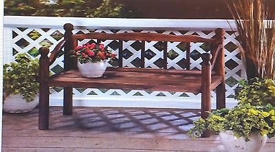 Charming Wooden Garden Grove Bench Plant Stand