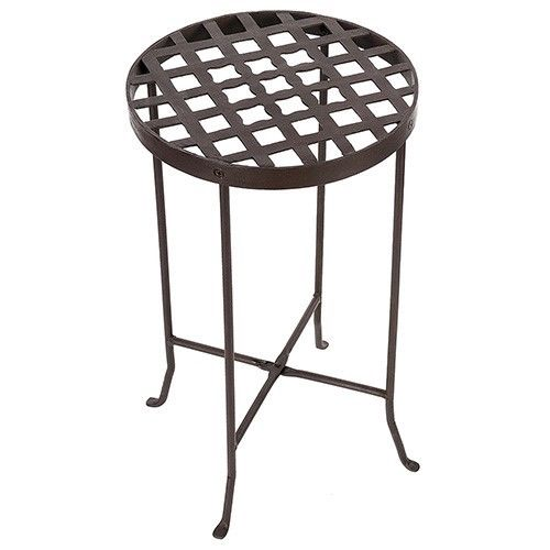 Achla Designs FB-23 Flowers Wrought Iron Plant Stand III Patio Table Bronze NEW
