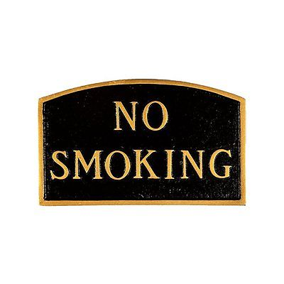 Montague Metal Products SP-9S-BG No Smoking Arch Statement Plaque, Black/Gold