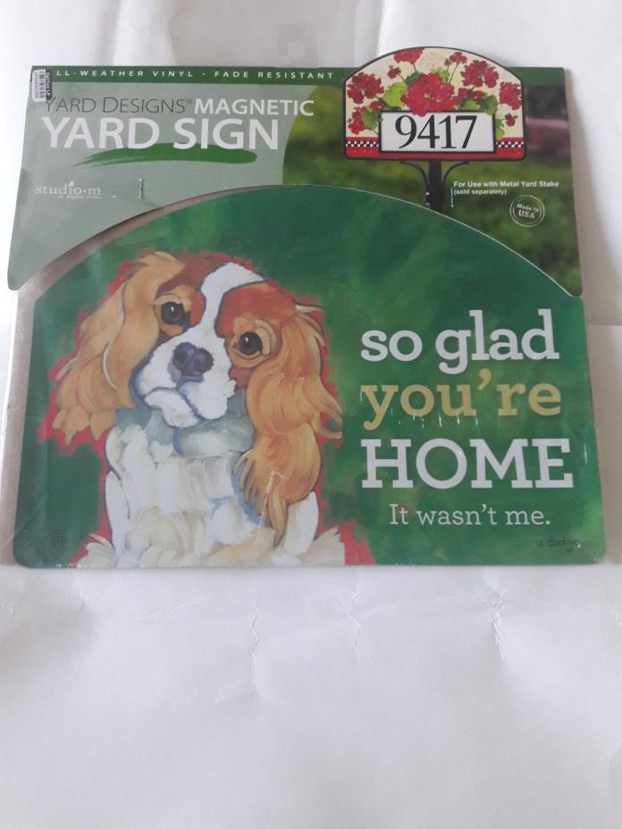 Yard designs magnetic yard sign